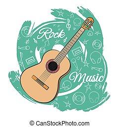 chitarra, music-05, roccia