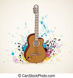 chitarra, musica, fondo