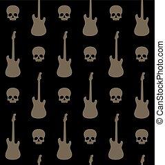 chitarre, fondo, crani, seamless