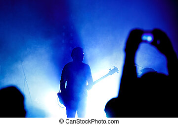 chitarrista, concerto, roccia