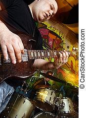 chitarrista, e, tamburino, gioco