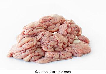 Chitterlings internal organs of pig. - Chitterlings internal...