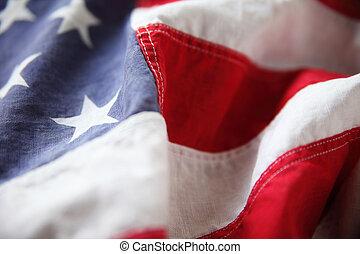 chiudere, bandiera, stati uniti