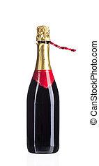 chiudere,  champagne, su, bottiglia