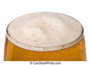 chiudere, luce, birra, su, vetro