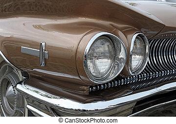 chiudere, luce, vecchio, su, automobile