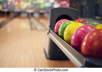 chiudere, Palle, su,  bowling