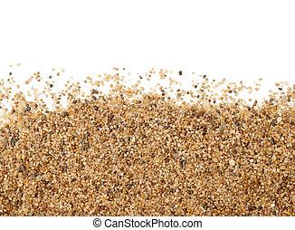 chiudere, sabbia, dispersione, su