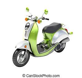 chiudere, scooter, su
