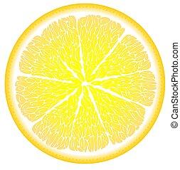 chiudere, taglio, limone, su