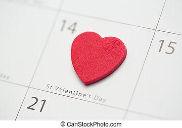 chiudere, valentines, cuore, giorno, su, rosa