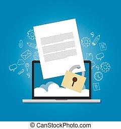 chiuso chiave, confidenziale, cifratura, proibito, contenuto, sicurezza protezione, carta, file, sicurezza, documento
