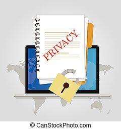 chiuso chiave, intimità, protezione, linea, sicurezza, documento, dati