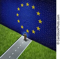 chiuso, mercato, europeo