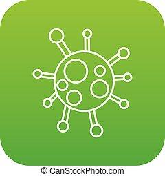 Chlamydia virus icon green vector