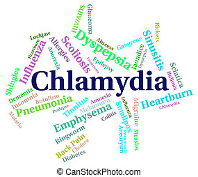 Chlamydia Word Represents Sexually Transmitted Disease And Affli