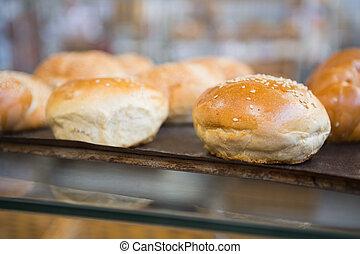 chleby, do góry szczelnie, taca