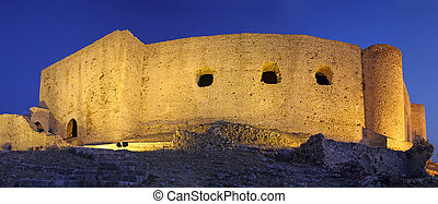 Chlemoutsi Castle, a medieval fortress in Greece.