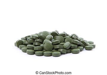 chlorella, tabletas