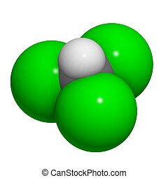 Chloroform molecule (chemical structure)