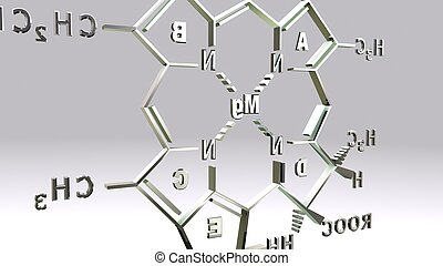 CHLOROPHYLL-D structure_back - It is present in marine red...