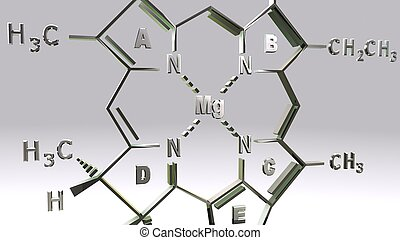 CHLOROPHYLL-D structure_closeup - It is present in marine...