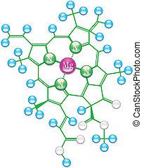 Chlorophyll chemical formula I background illustration EPS-10