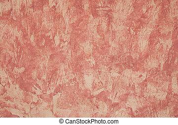 chlupatý, closeup, červené šaty grafické pozadí