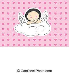 chmura, anioł uskrzydla