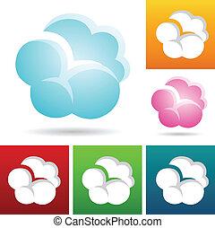chmura, ikony