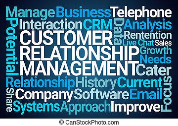 chmura, kierownictwo, słowo, związek, klient