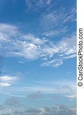 chmura nieba, tło, wizerunek