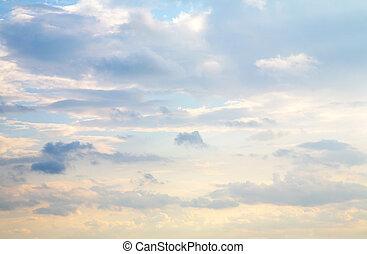 chmura, niebo
