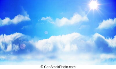 chmura, przedstawiając, ręka, samolot