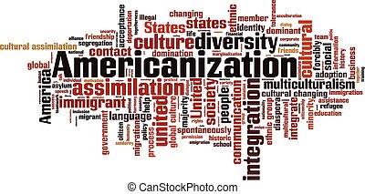 chmura, słowo, americanization