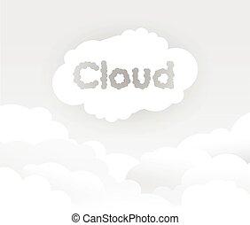chmura, szary, tło