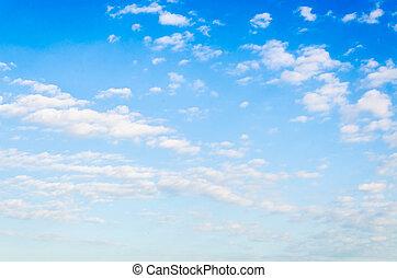 chmura, z, niebo, tło