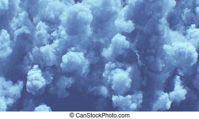 chmury, burza, ciemny, 4k, piękny, looped, prospekt, górny, ...
