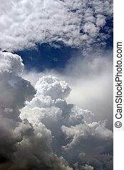 chmury, burza