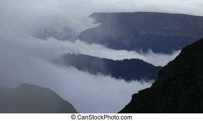 chmury, i, góry