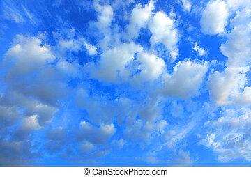 chmury, na, błękitny, sky3