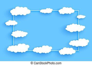 chmury, tło, przestrzeń budowa, tekst, projektować