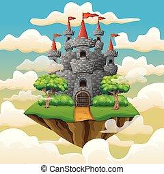 chmury, wyspa, przelotny, opowiadanie, kaprys, wróżka, zamek
