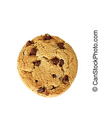 Chocolate Chip Cookie, natural light. Path included.