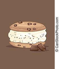 choc chip sandwich - a vector illustration in eps 10 format...