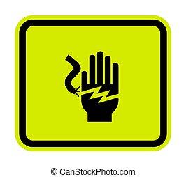 choc, symbole, signe, électrique, fond, illustration,...
