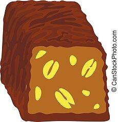 Choco bonbon icon, cartoon style