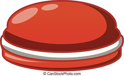 Choco cake icon, cartoon style