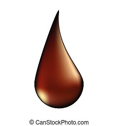 choco drop vector symbol icon design. illustration isolated on white background