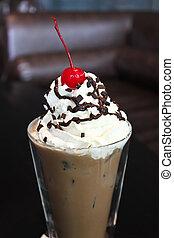 Choco latte - Closeup choco latte